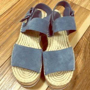 suede espadrille wedge platform sandals! Pet free